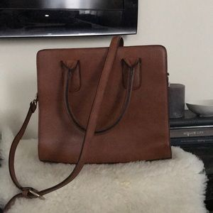 Forever 21 brown/cognac bag with crossbody strap